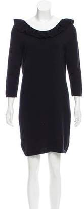 Tibi Ruffled Wool Dress