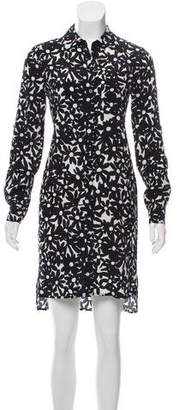 Diane von Furstenberg Prita Silk Button-Up Dress