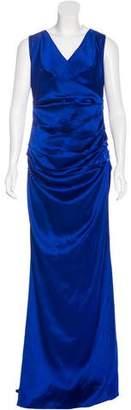 Talbot Runhof Ruched Evening Gown