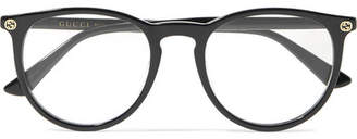 Gucci Round-frame Acetate Optical Glasses - Black