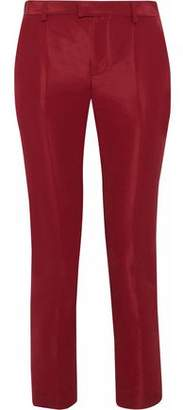 RED Valentino Cropped Satin-Faille Skinny Pants