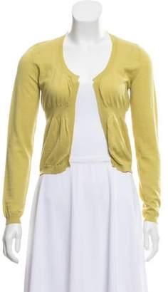 Marni Lightweight Wool Cardigan Lime Lightweight Wool Cardigan