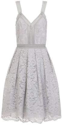 Dorothy Perkins Womens **Chi Chi London Blue Lace Midi Skater Dress
