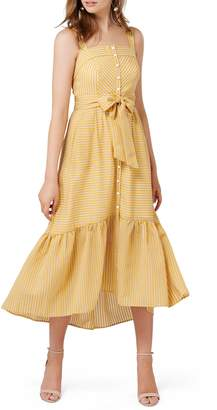 Ever New Stripe Button Up Tie Front Sundress
