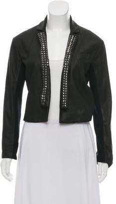 Veda Embellished Leather Jacket