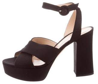 Gianvito Rossi Denim Platform Sandals w/ Tags