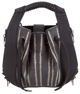 Nada Sawaya Lynn Mini Backpack Laser Cut Hair Calf