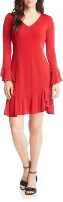 Karen Kane Sienna Ruffle Trim Dress