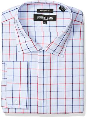 Stacy Adams Men's Big Tall Windowpane Classic FIT Dress Shirt