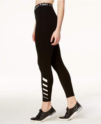 Calvin Klein High-Rise Reflective Ankle Leggings