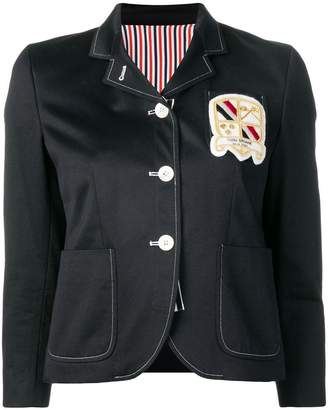 Thom Browne Patch Pockets Grosgrain Sport Coat