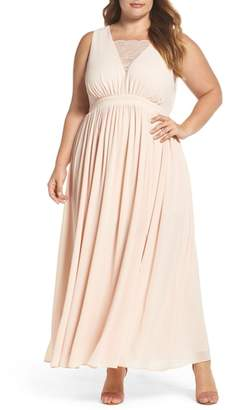 Soprano Lace Inset Maxi Dress