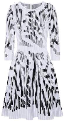 Oscar de la Renta Cotton-blend knit dress