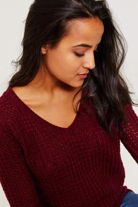Ardene Oversized Chunky V-neck Sweater