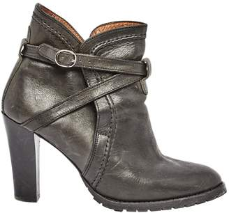 Lemaire Leather strap boots