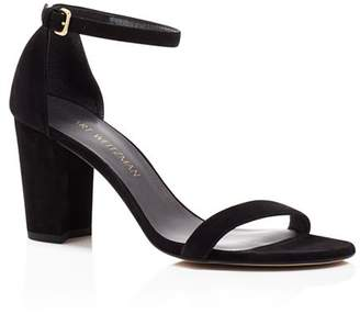 Stuart Weitzman Women's Nearlynude Ankle Strap Sandals