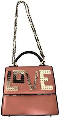 Les Petits Joueurs Pink Leather Handbag