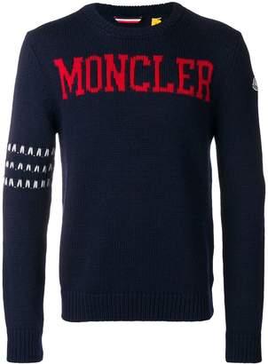 Moncler 1952 logo intarsia sweater