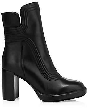 Aquatalia Women's Illiana Block-Heel Leather Boots