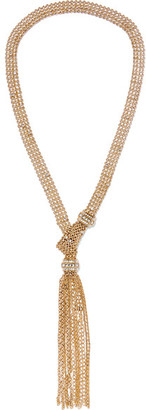 Lanvin - Gold-tone Crystal Necklace - one size $995 thestylecure.com