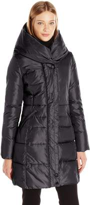 French Connection Women's Down Coat with Pillow Collar