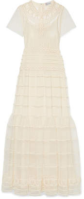 RED Valentino Point D'esprit Gown - Ecru