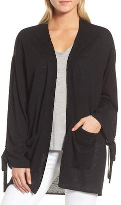 Trouve Trouv? Ruched Sleeve Cardigan