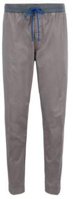 BOSS Hugo Relaxed-fit stretch-cotton chinos drawstring waist 32R Open Grey