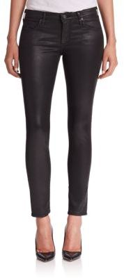 AG The Leatherette Legging Ankle Jeans $255 thestylecure.com