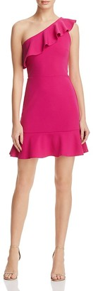 AQUA One Shoulder Ruffle Dress - 100% Exclusive $88 thestylecure.com