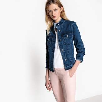 MADEMOISELLE R Denim Jacket with Stand-Up Collar