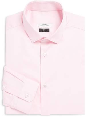 Versace Men's Solid Cotton Trend-Fit Dress Shirt