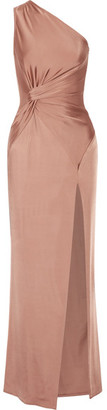 Cushnie et Ochs - Denise One-shoulder Stretch-satin Gown - Antique rose $1,995 thestylecure.com