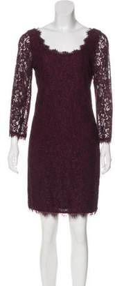 Diane von Furstenberg Lace Zip-Up Dress