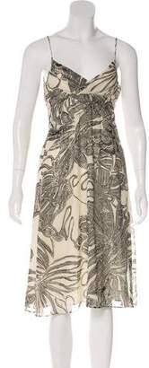 Theory Sleeveless Silk Midi Dress