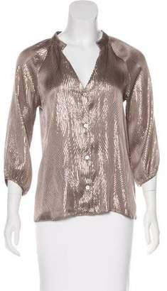 Geren Ford Metallic Silk Top