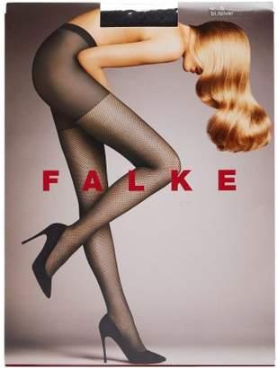 0e242e4794fbb Falke Light Point Silver Lurex 3d Knit Fishnet Tights - Womens - Black Multi