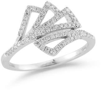 DANA REBECCA 14K White Gold Aria Selene Diamond Ring - Size 7 - 0.30 ctw