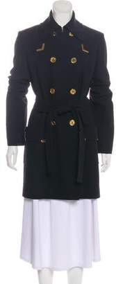 Michael Kors Double-Breasted Virgin Wool Coat