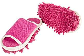 Evriholder Slipper Genie Microfiber Women's Slippers for Cleaning and Dusting