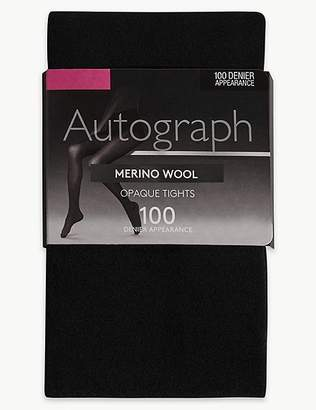 Marks and Spencer 100 Denier Merino Wool Blend Opaque Tights