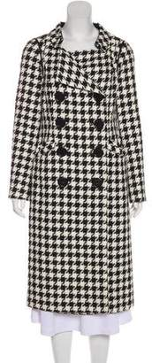 Charles Chang-Lima Double-Breasted Houndstooth Coat