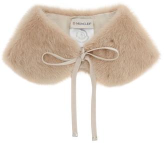 Moncler Pink Fur Collar
