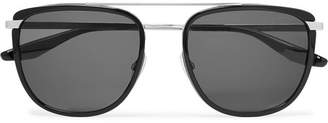 Barton Perreira Lafayette Aviator-Style Acetate and Titanium Sunglasses - Black