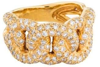 Ring 18K Pavé Diamond Chain Link