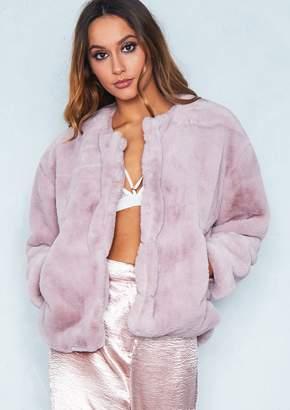 Missy Empire Missyempire Jess Pink Faux Fur Jacket