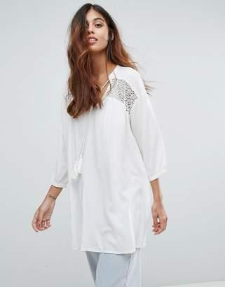Vero Moda Embroidered Tunic Dress