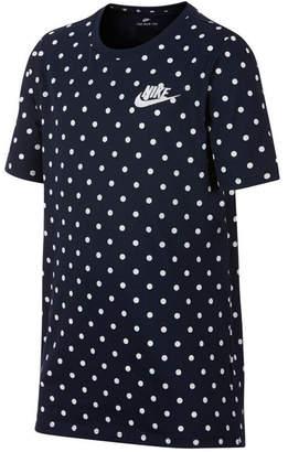 Nike Big Boys Dot-Print Cotton T-Shirt