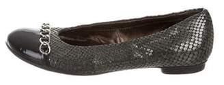 AGL Metallic Cap-Toe Flats