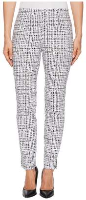Tribal Stretch Printed Bengaline 28 Pull-On Ankle Pants Women's Casual Pants